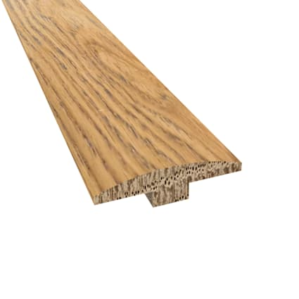 Prefinished Distressed Cheshire Oak Hardwood 1/4 in thick x 2 in wide x 78 in Length T-Molding