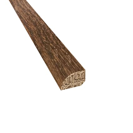 Prefinished Distressed Stratford Oak Hardwood 1/2 in thick x .75 in wide x 78 in Length Shoe Molding