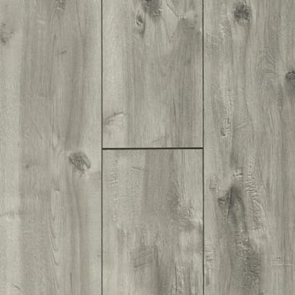 12mm Boylan Gray 72 Hour Water-Resistant Laminate Flooring 8 in. Wide x 47.638 in. Long