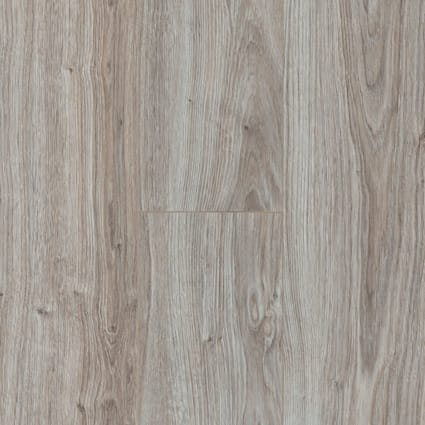 12mm+pad Seashell Oak 24 Hour Water-Resistant Laminate Flooring 7.5 in. Wide x 50.67 in. Long