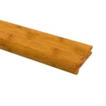 null - Prefinished Horizontal Carbonized Bamboo 3/8 in thick x 3.25 in wide x 72 in Length Stair Nose