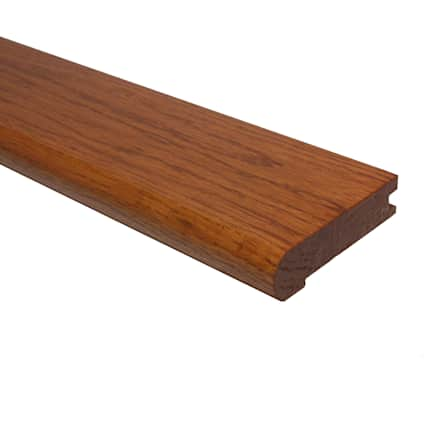 Prefinished Classic Gunstock Oak Hardwood 3/4 in thick x 3.25 in wide x 78 in Length Stair Nose