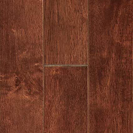 3/4 in. Moroccan Cherry Hevea Solid Hardwood Flooring 3.5 in. Wide