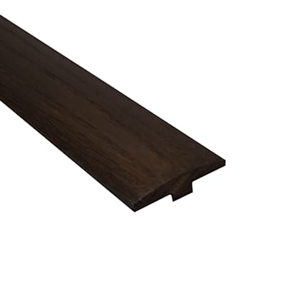 Prefinished Mocha Oak Hardwood 1/4 in thick x 2 in wide x 78 in Length T-Molding