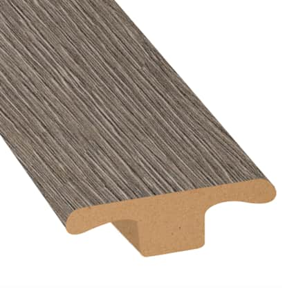 Pewter Oak Laminate 1.75 in wide x 7.5 ft Length T-Molding