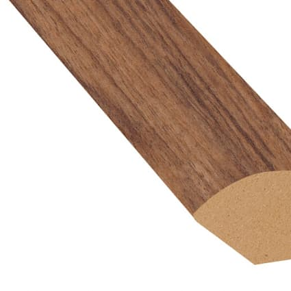 Heritage Walnut Laminate 0.75 in wide x 7.5 ft length Quarter Round