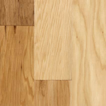 3/8 in. Natural Hickory Distressed Engineered Hardwood Flooring 5 in. Wide