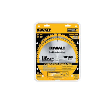 """DW3106P5 10"""" Saw Blade 60T/32T Combo Pack"""