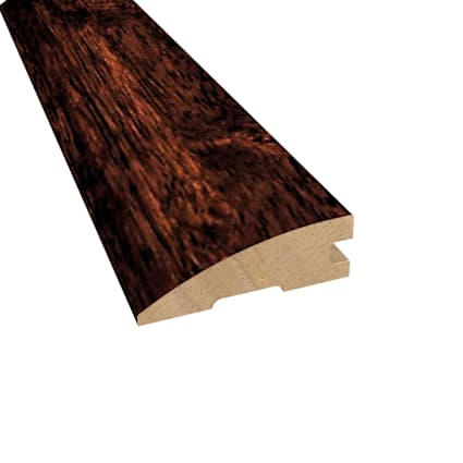 Prefinished Moroccan Cherry Hevea Hardwood 3/4 in thick x 2.25 in wide x 78 in Length Reducer