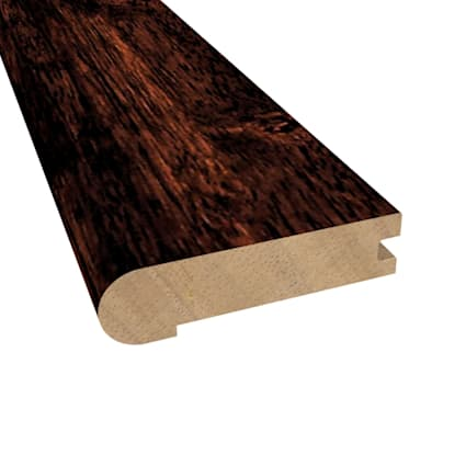Prefinished Moroccan Cherry Hevea Hardwood 3/4 in thick x 3.125 in wide x 78 in Length Stair Nose
