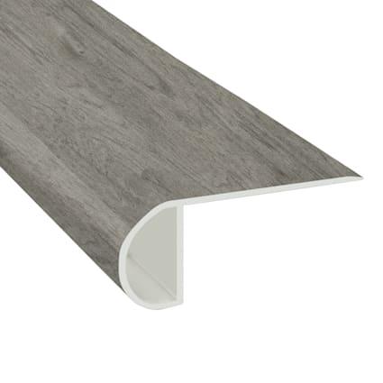 Stormy Gray Oak Vinyl Waterproof 2.25 in wide x 7.5 ft Length Low Profile Stair Nose