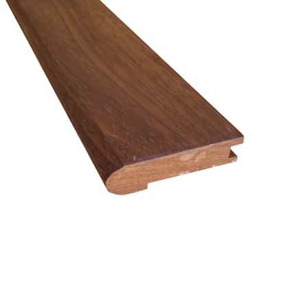 Prefinished Matte Brazilian Chestnut Hardwood 5/8 in thick x2.75 in wide x 78 in Length Stair Nose