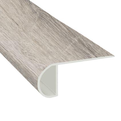 Dewy Meadow Oak Vinyl Waterproof 2.3 in wide x 7.5 ft Length Low Profile Stair Nose