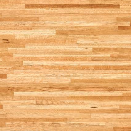 Unfinished Builder Oak 1 - 1/2 in x 25 in x 8 ft Butcher Block Countertop