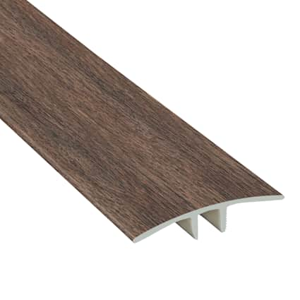 Antique Wood Medley Laminate Waterproof 1.75 in wide x 7.5 ft Length Low Profile T-Molding