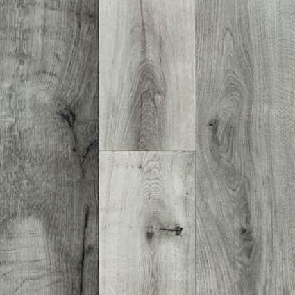 10mm Stockholm Silver Oak High Gloss Laminate Flooring 6.26 in. Wide x 54.45 in. Long