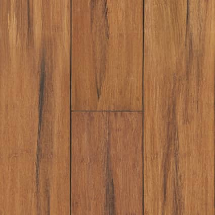 3/8 in. Raleigh Strand Distressed Wide Plank Engineered Click Bamboo Flooring 5.125 in. Wide