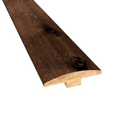 Prefinished Distressed Hunters Creek Hickory Hardwood 1/4 in thick x 2 in wide x 78 in Length T-Mold
