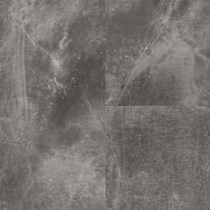5mm w/pad Fantasy Gray Stone Waterproof Rigid Vinyl Plank Flooring 12 in. Wide x 24 in. Long