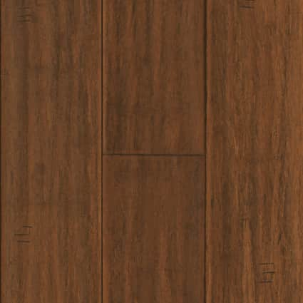 3/8 in. Bismark Strand Distressed Wide Plank Engineered Click Bamboo Flooring 5.125 in. Wide