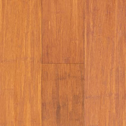 3/8 in.Carbonized Strand Smooth Wide Plank Engineered Click Bamboo Flooring 5.125 in. Wide
