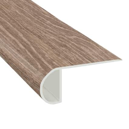 Strasbourg Oak Vinyl Waterproof 2.25 in wide x 7.5 ft Length Low Profile Stair Nose
