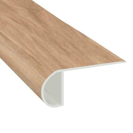 Meribel Elm Vinyl Waterproof 2.25 in wide x 7.5 ft Length Low Profile Stair Nose
