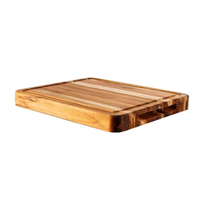 Unfinished Teak 1 - 3/8 x 11 in x 15 in Butcher Block Cutting Board