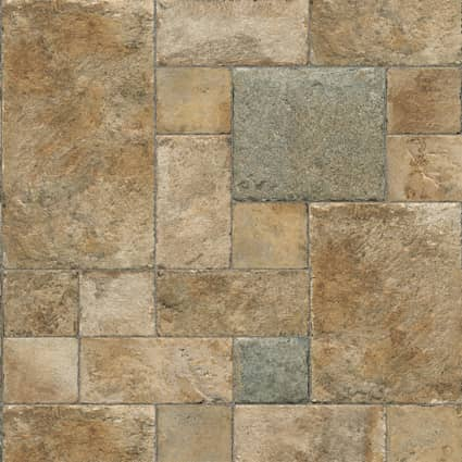 8mm+pad Twilight Terrace Stone 24Hr Water-Resistant Laminate Flooring 15.5 in. Wide x 46.47 in. Long