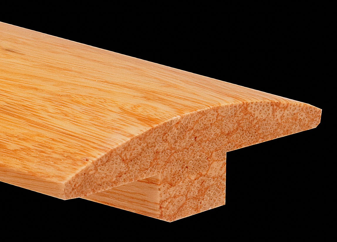 Prefinished Natural Strand Distressed Bamboo 0 625 In Thick X 1 875 In Wide X 6 Ft Length T Molding Ll Flooring