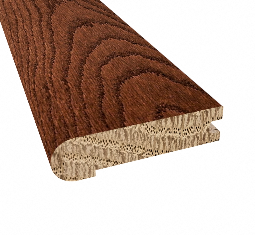Prefinished Saddle Oak Hardwood 3 4 In Thick X 3 125 In Wide X 78 In Length Stair Nose Ll Flooring