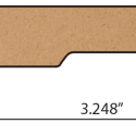 drawing for laminate baseboards