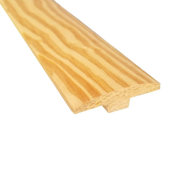 Unfinished Southern Yellow Pine Hardwood 1/4 in thick x 2 in wide x 78 in Length T-Molding