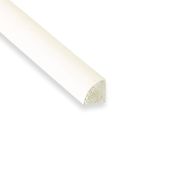 "White Primed Finger Joint (PFJ) Quarter Round- 8 lft per piece  Dimensions: 11/16"" x 11/16"" x 8'"