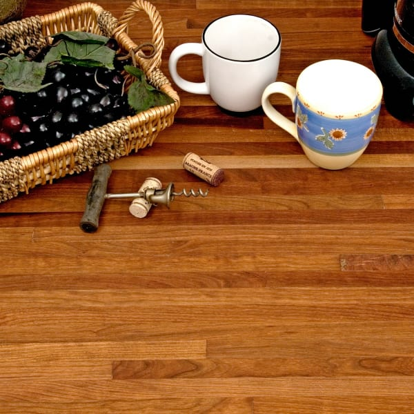 "WILLIAMSBURG Butcher Block Co. - 1-1/2"" thick x 25"" x 8 lft American Cherry Unfinished Butcher Block Countertop"