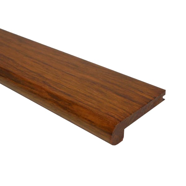 Prefinished Brazilian Cherry Hardwood 3/8 in thick x 2.75 in wide x 6.5 ft Length Stair Nose