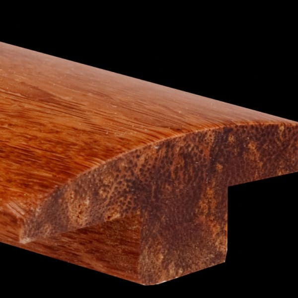 Prefinished Carbonized Strand Bamboo 0.625 in thick x 1.875 in wide x 6 ft Length T-Moldin