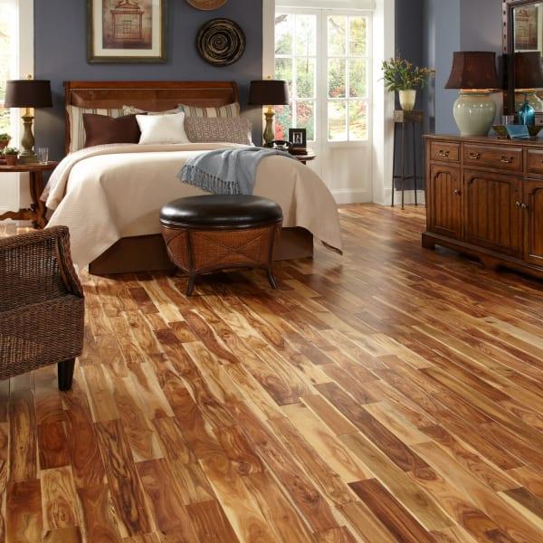 Tobacco Road Acacia Solid Hardwood Flooring in Bedroom