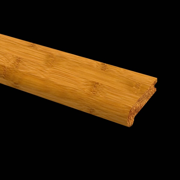 Prefinished Horizontal Carbonized Bamboo 3/8 in thick x 3.25 in wide x 72 in Length Stair Nose