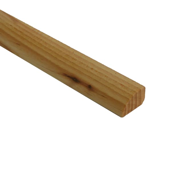 Prefinished Hickory Hardwood 1/2 in thick x .75 in wide x 6.5 ft Length Shoe Molding