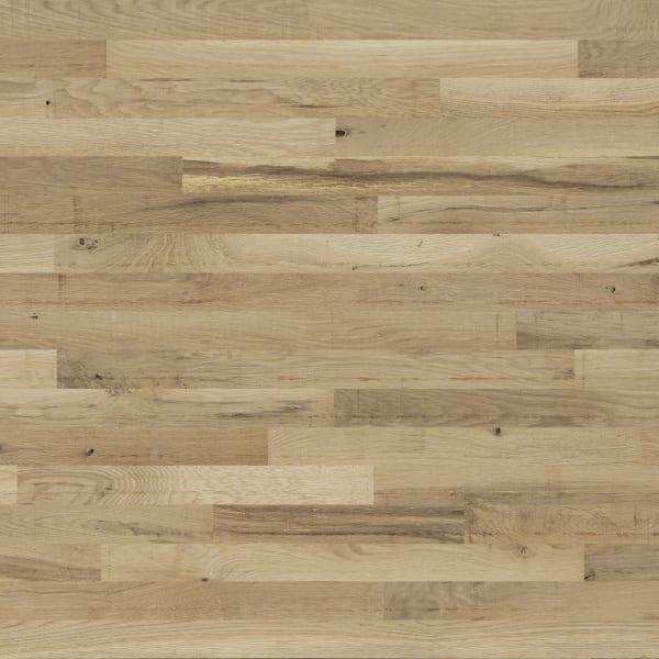 "3/4"" x 2-1/4"" Rustic White Oak Unfinished Square Edge Solid Hardwood Flooring Large Swatch"