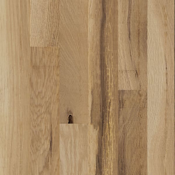 """3/4"""" x 2-1/4"""" Rustic White Oak Unfinished Square Edge Solid Hardwood Flooring Small Swatch"""