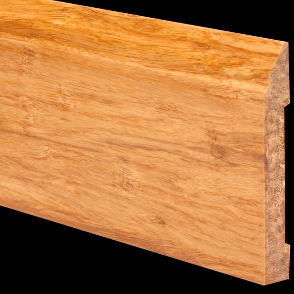 Prefinished Natural Strand Bamboo 1/2 in thick x 3.5 in wide x 6 ft Length Baseboard