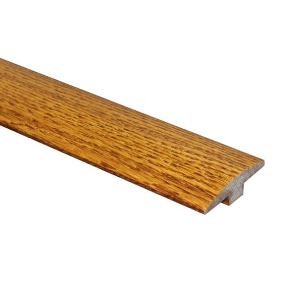 Gunstock Oak Hardwood 1/2 in thick x 2 in wide x 6.5 ft Length T-Molding