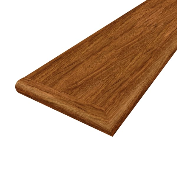 Brazilian Cherry 48 in Left Return Stair Tread