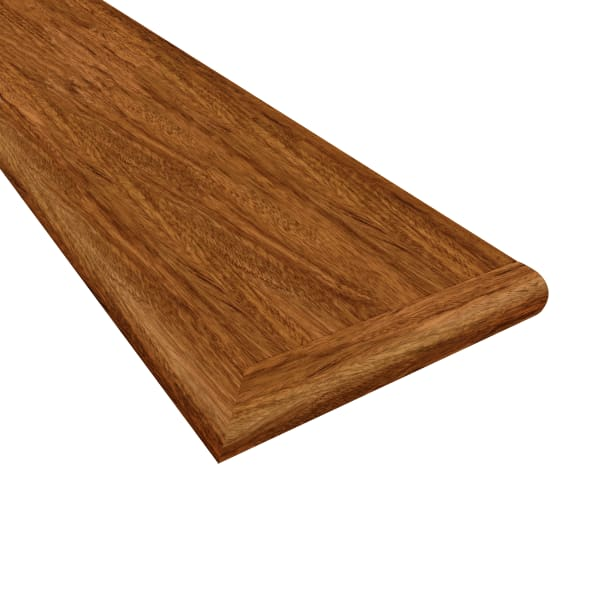 Brazilian Cherry 48 in Right Return Stair Tread