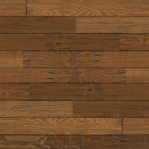 .75 in. x 4 in. Summer Harvest Hickory Solid Hardwood Flooring Large Swatch