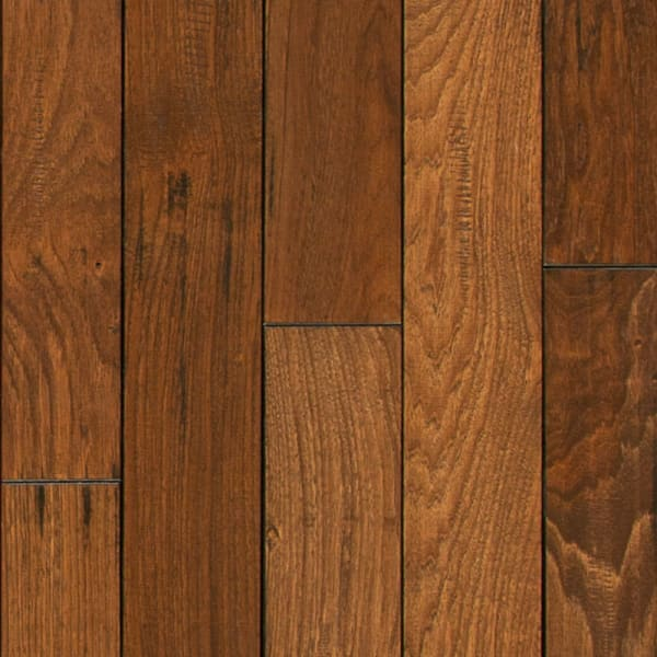 .75 in. x 4 in. Summer Harvest Hickory Solid Hardwood Flooring Small Swatch