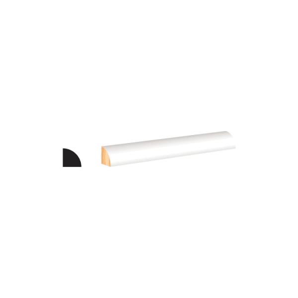 White Primed Finger Joint (PFJ) Quarter Round- 12 lft per piece