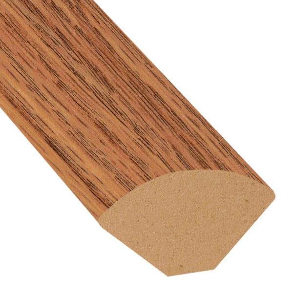Cinnabar Oak Laminate 1.075 in wide x 7.5 ft Length Quarter Round